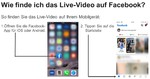Wie finde ich das Live Video auf Facebook